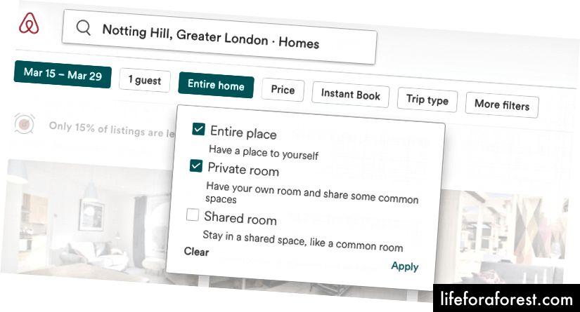 Tín dụng: trang web của Airbnb