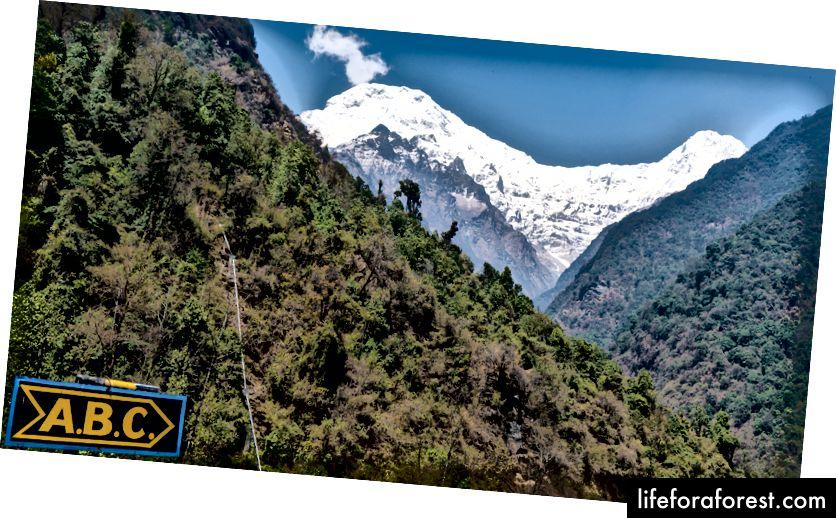 Annapurna South & Hiunchuli nhìn từ Chhomrong