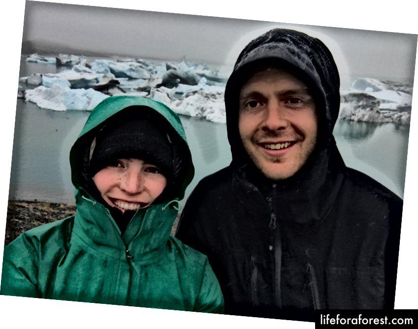 Đóng băng trong mưa tại Jökulsárlón - Tháng 9 năm 2017 - Ảnh của Ali