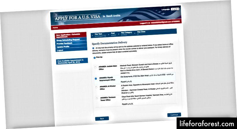 Valgside for dokumentasjonslevering på CGIFederal