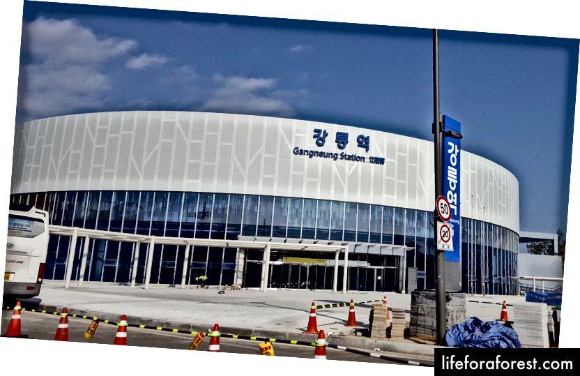 Gangneung İstasyonu: PyeongChang 2018'in ana ulaşım merkezlerinden biri. Kredi: Ken Hanscom