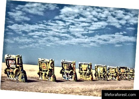 Cadillac Ranch, Texas [Ảnh Shay]