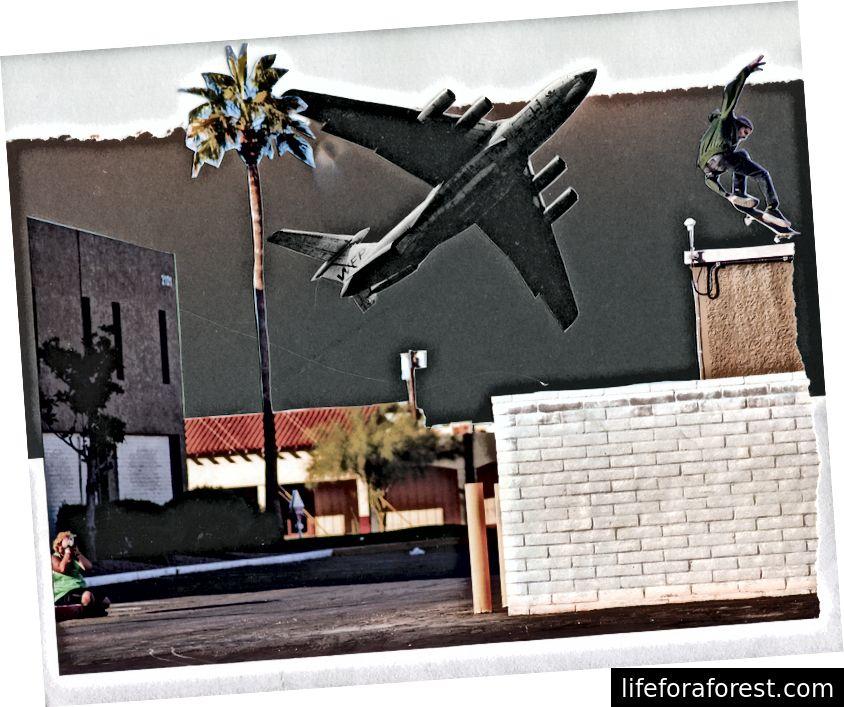 LAX Playground, 2017 (ảnh ghép đa phương tiện, bởi tôi)