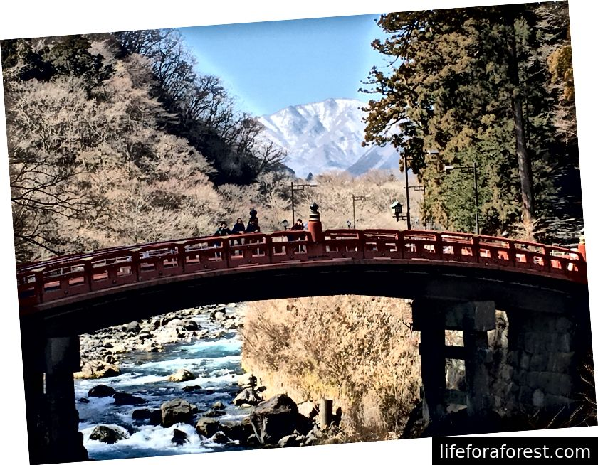 Shinkyo sild, väidetav koht, kus preester Shodo Shonin ületas Daiya jõe.