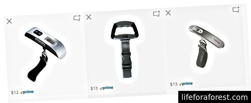 รายการเครื่องชั่งน้ำหนักกระเป๋าถือยอดนิยมที่ขายบน Amazon.com