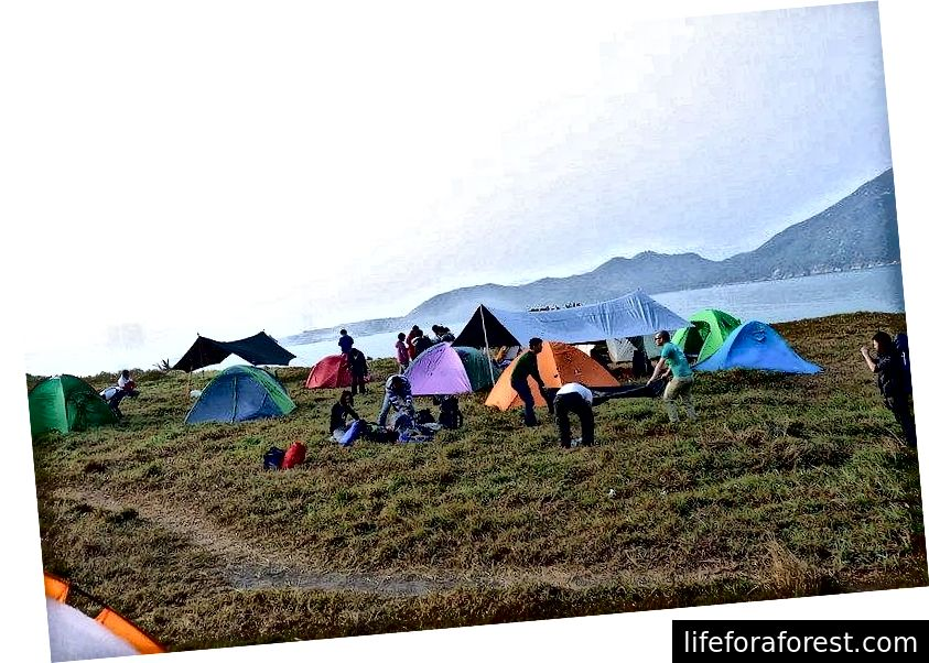 Camping ved Tung Lung