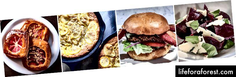 Zleva: Bob's Well Bread Bakery; Táta's Luncheonette; 1882 mřížky; Passatempo Taverna