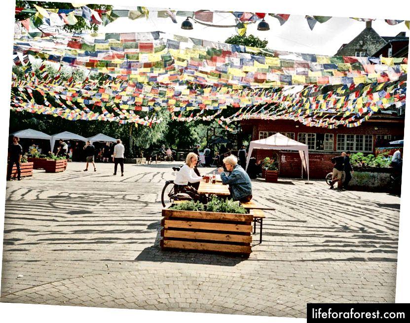 Cartierul Christiania cu spirit liber