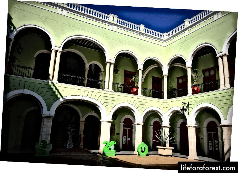 Et besøk i Palacio del Gobierno for å beundre malerier av kunstneren Fernando Castro Pacheco er et must.