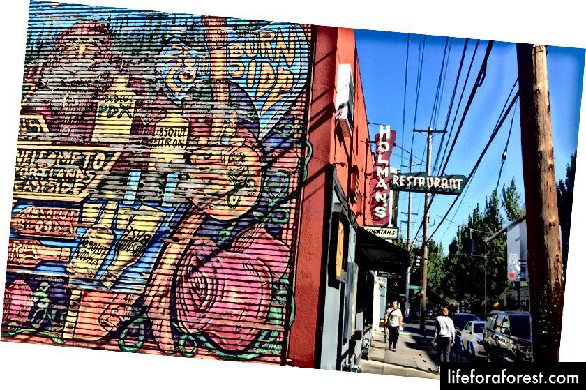 Holman's pakub linna ühte parimat verist maribaari. Lisapunktid tänavakunsti eest.