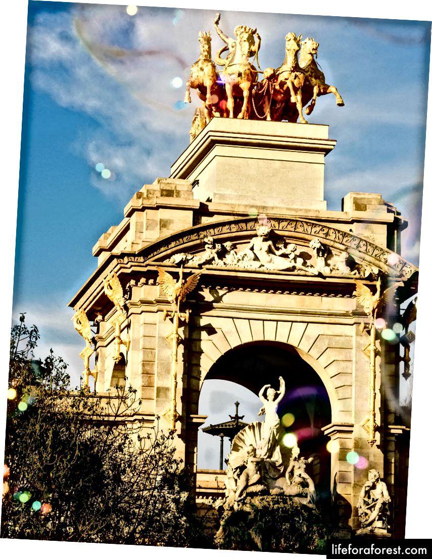 Parc de la Ciutadella er et verdsatt grønt område i Barcelona.