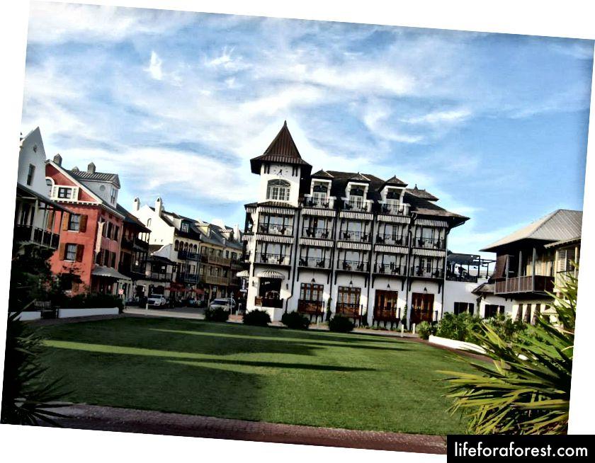 The Pearl Hotel på Rosemary Beach på 30-A (foto av Lori Bumgarner)