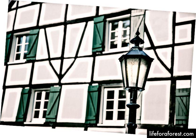 Fachwerkhaus, Düsseldorf, Tyskland © ChristopherLarson