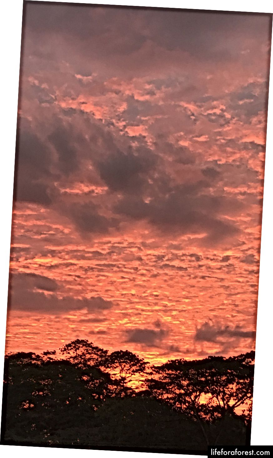 Solnedgang i Jaco, Costa Rica