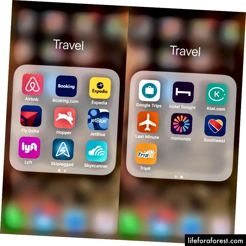 Mine essensielle reiseapplikasjoner