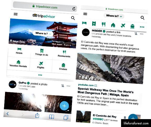 TripAdvisor Mobile Site