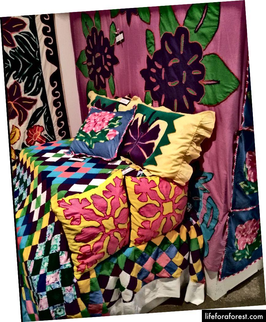 Hình: Nghệ thuật hoa Māori (bộ đồ giường), Bảo tàng Pataka. Nguồn: tài sản gốc của tác giả. Xin vui lòng không sử dụng mà không có sự cho phép bằng văn bản.