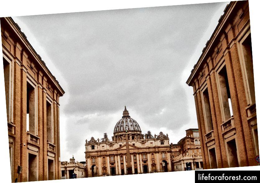 Vatikani linn (see on üks mu paremaid kaadreid, palun ärge mõistke mind teiste üle, arvestades allpool toodud pilte)