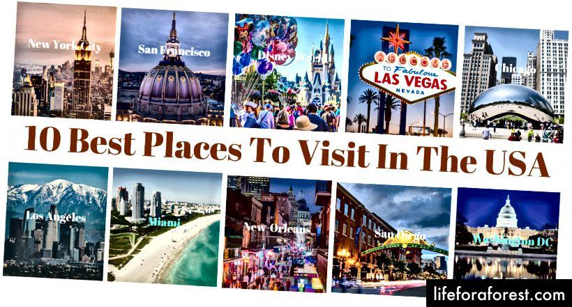 Најбоља места за посету у САД-у