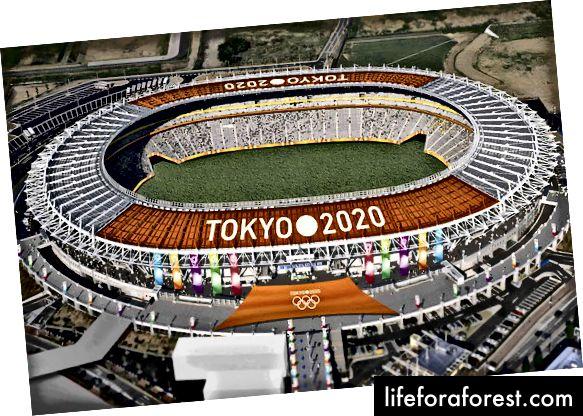 Tokyo-genererte datamaskinforslaget, med tillatelse fra Tokyo 2020-budkomiteen.