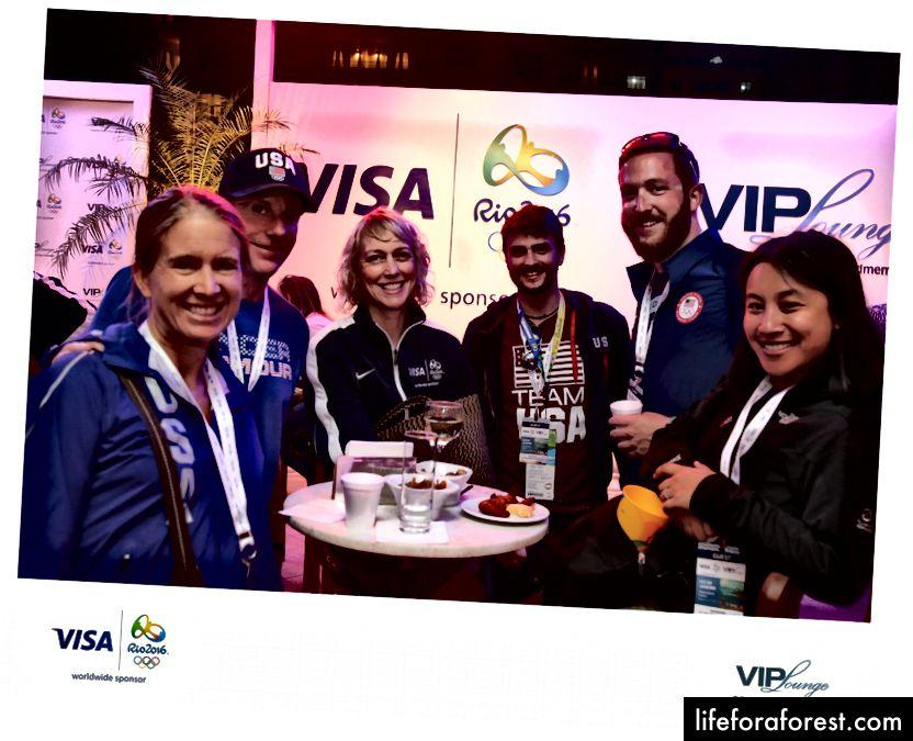 Visa VIP Lounge sponset av Chase i Rio 2016. Foto med tillatelse fra Ken Hanscom.