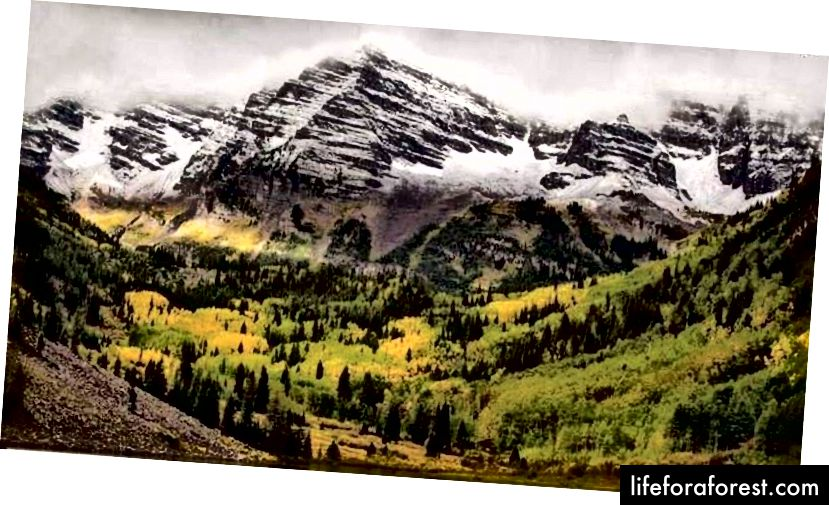 """Přestože jsou toto dvojče vrcholů jedním z nejvíce fotografovaných průhledů ve Skalistých horách, jsou právem známé jako """"smrtící zvony""""."""