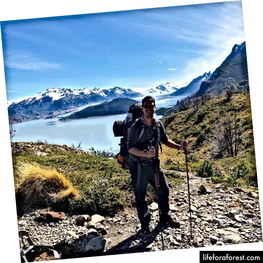 To jsem já na začátku mé túry Torres del Paine.
