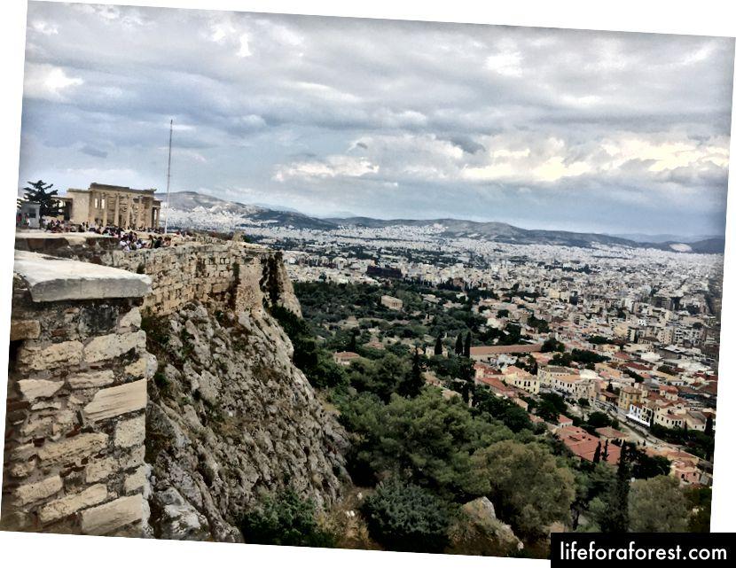 Utsikt fra Akropolis