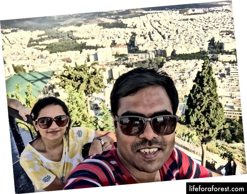 Selfie hentet fra Mt. Lycabettus - stedet var ganske overfylt :(