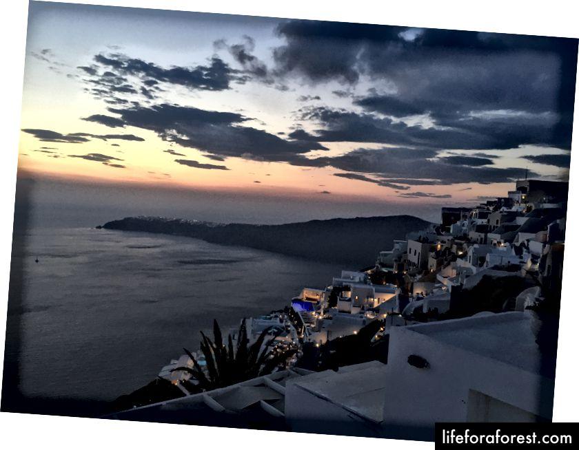 15 minutter etter solnedgang på Immerovigli