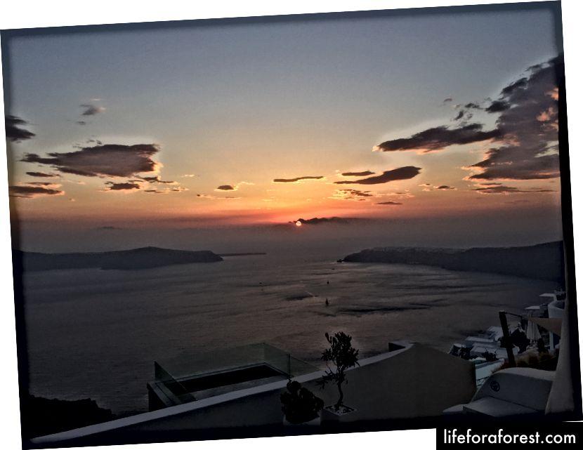 Solnedgang ved Imerovigli