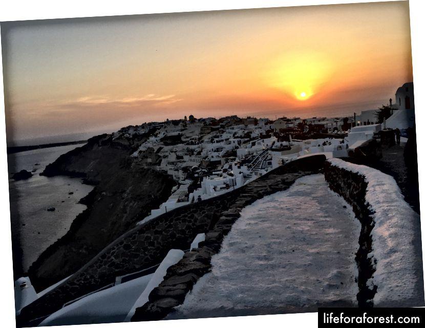 Solnedgang på Oia!
