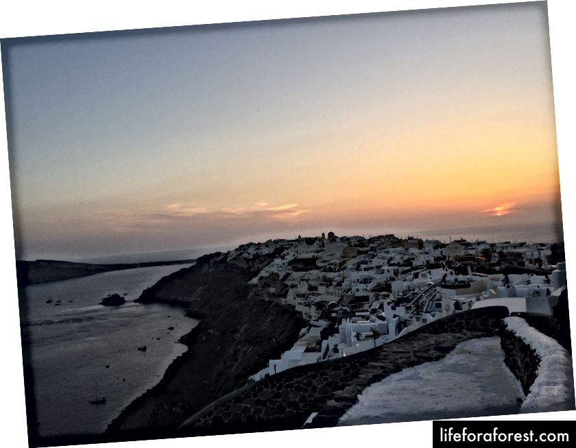 Solnedgang ved Oia