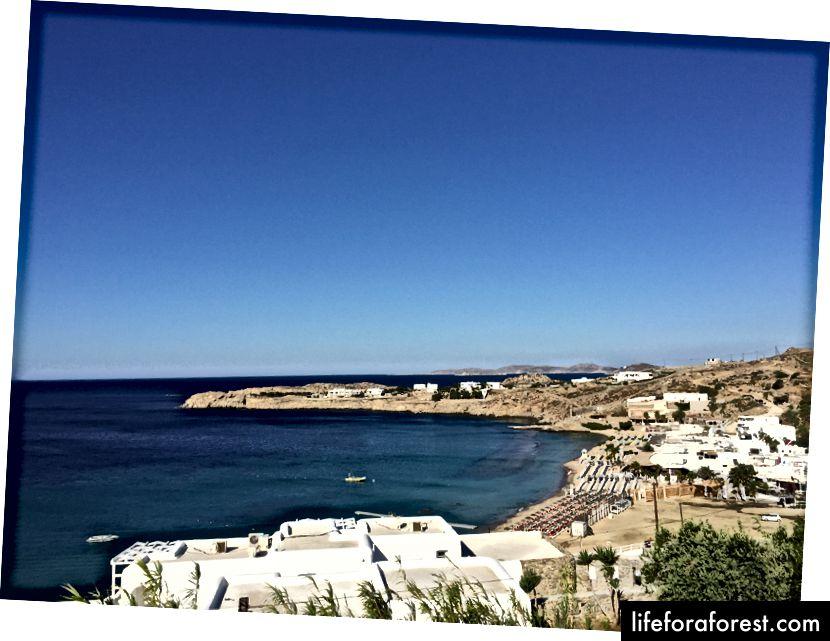 Utsikt fra feriestedet vårt - Paradise beach