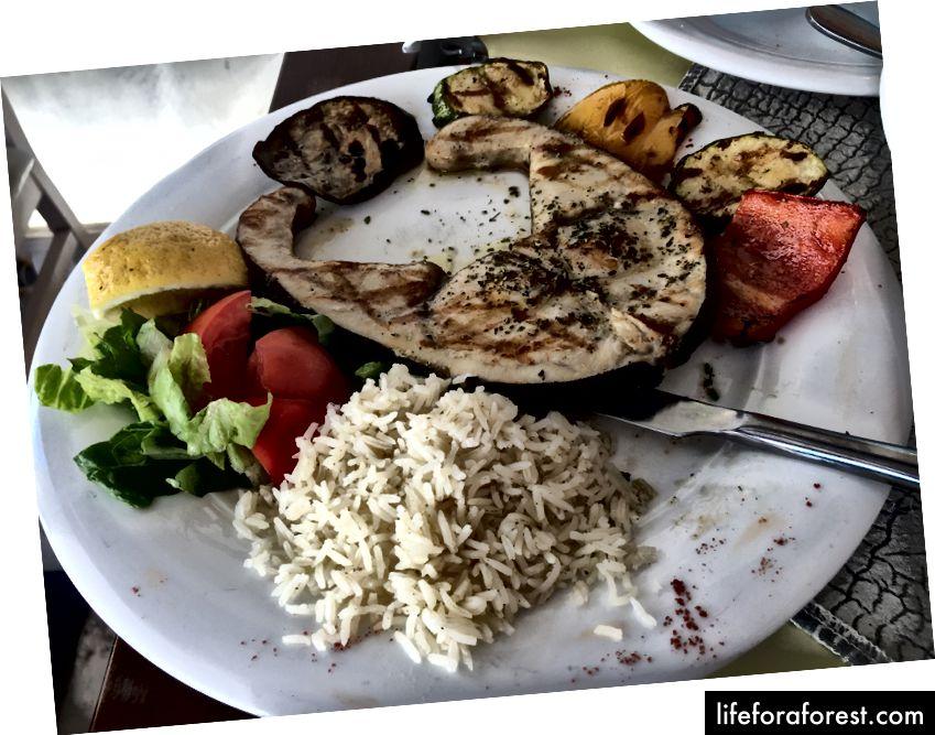 Úžasné jídlo poté, co se unaví z pózování kolem ;-)!