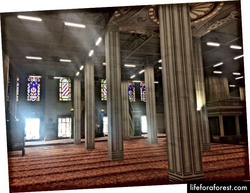 Interiør fra den blå moskeen