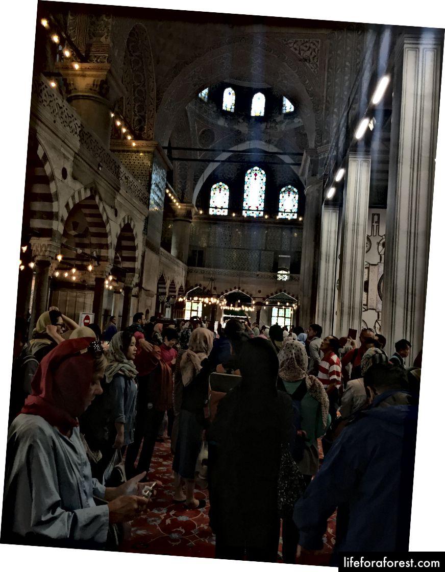 Interiøret i den blå moskeen