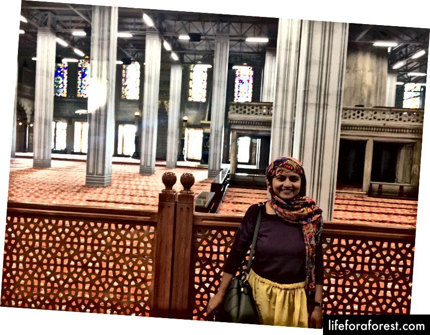 I den blå moskeen