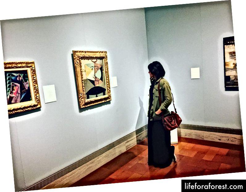 Pablo Picasso maleri utstilt på Nelson-Atkins Museum of Art