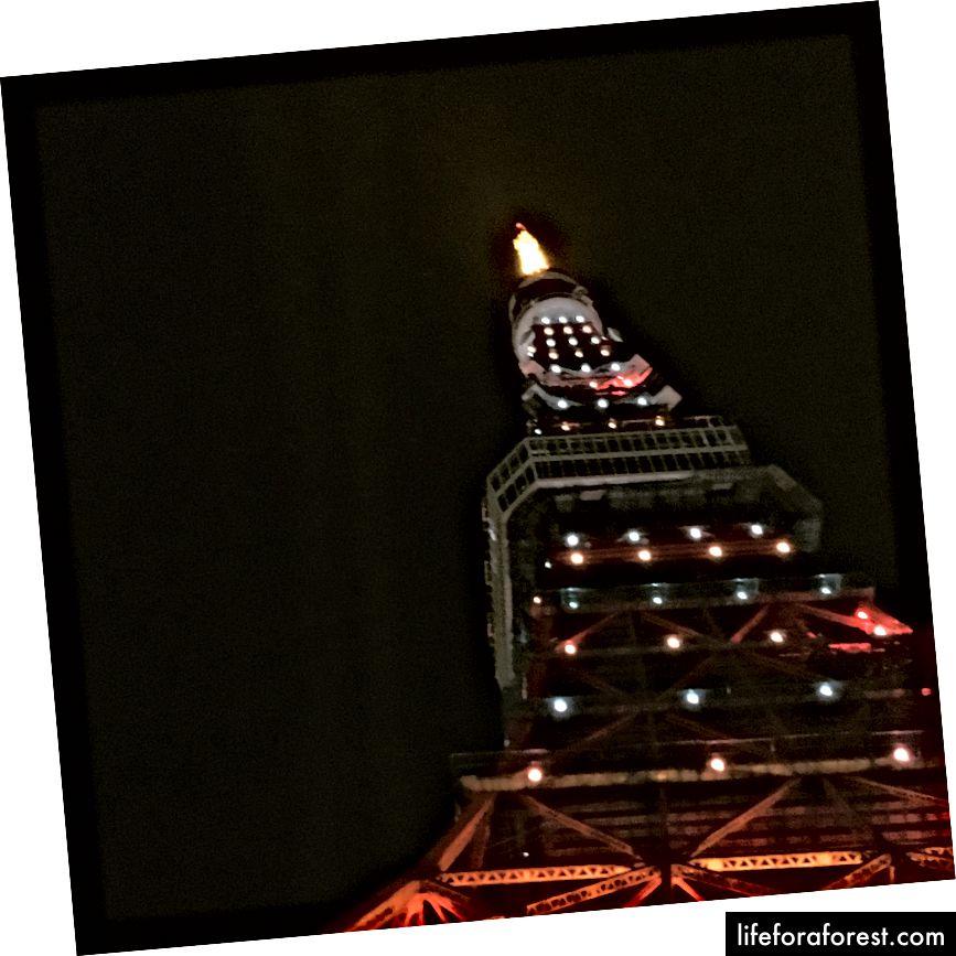 Her er en jeg tok av tårnet i desember