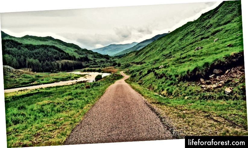 ... Eller den rå villmarken? - Glenfinnan, Skottland.