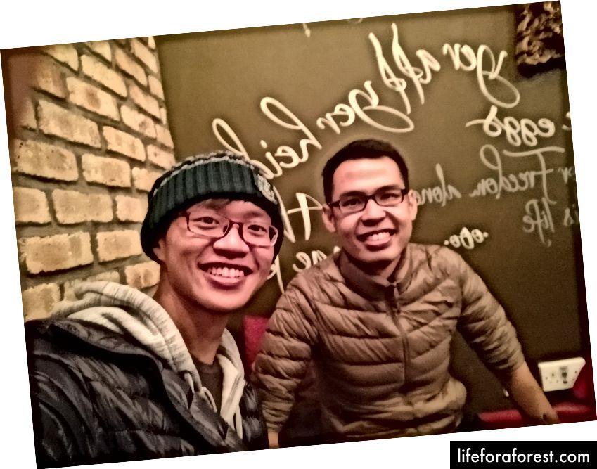 Teng Joo er en malaysisk lege! Det var flott å møte noen og snakke kinesisk med! - Edinburgh, Skottland.