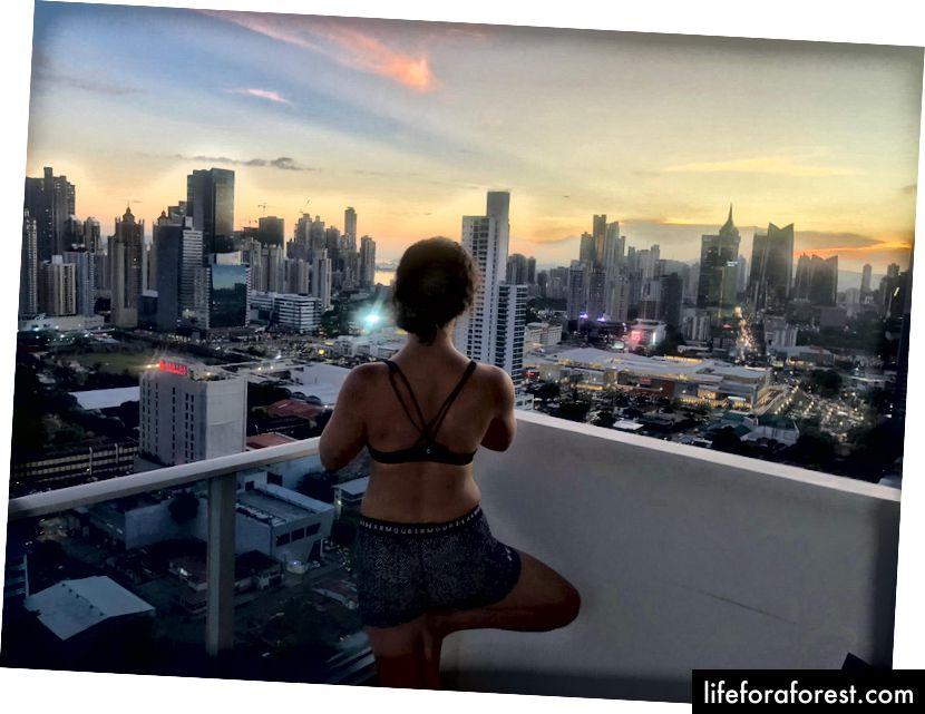 Pohled z balkonu TrustedHousesitters v Panamě
