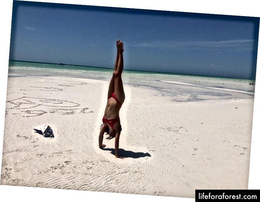 Jóga na pláži v Mexiku