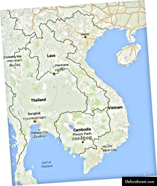 Přehled Vietnamu a sousedních zemí. Přehled Vietnamu a sousedních zemí.