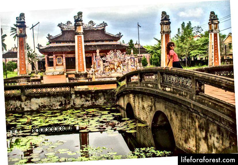 Opuštěná pagoda v Hoi An.