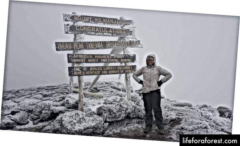 Uhuru Peak, Mount Kilimanjaro, Tanzania Photo Credit. S. Kusamba