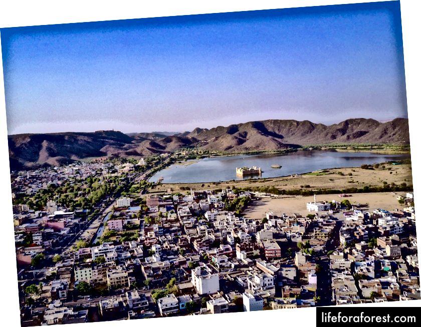 Ảnh chụp từ trên không của Jaipur