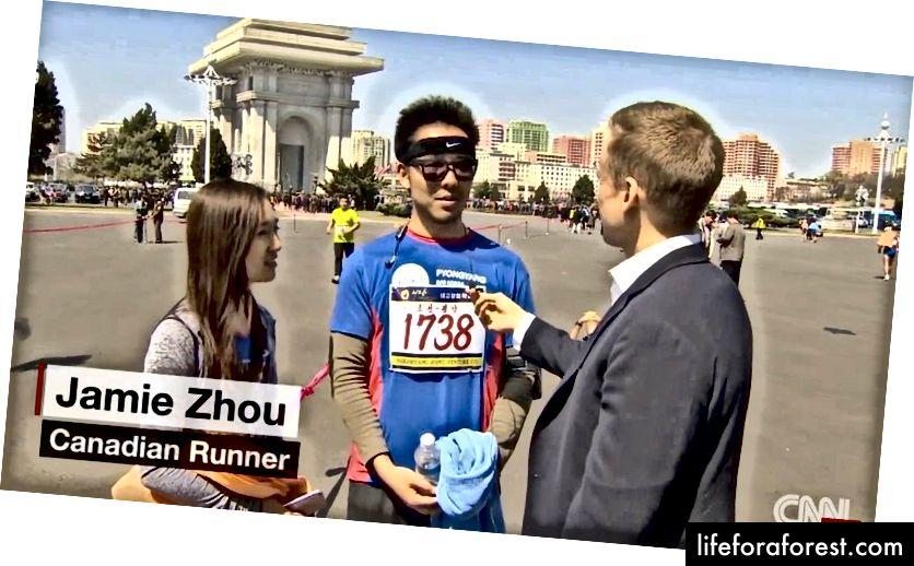 CNNning intervyusi Uill Ripli yugurishdan keyin!