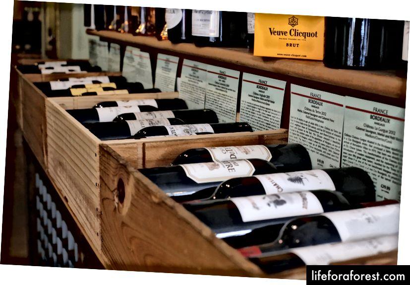 Vườn nho, Dorking chỉ có cửa hàng rượu độc lập